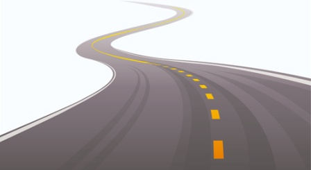 different winding road design vector 522958